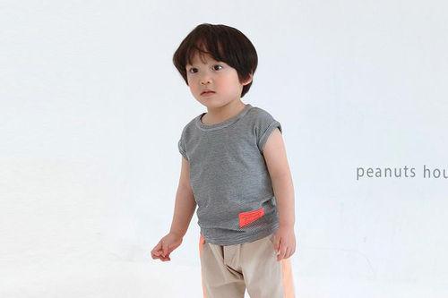 PEANUTS - BRAND - Korean Children Fashion - #Kfashion4kids - Label Sleeveless Top