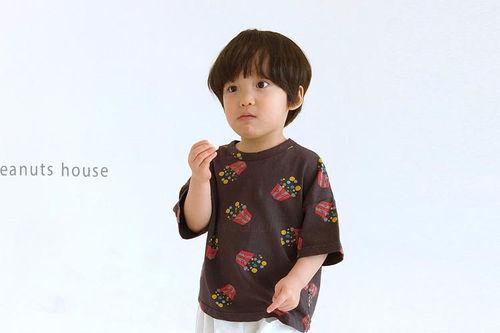PEANUTS - BRAND - Korean Children Fashion - #Kfashion4kids - Popcorn Tee