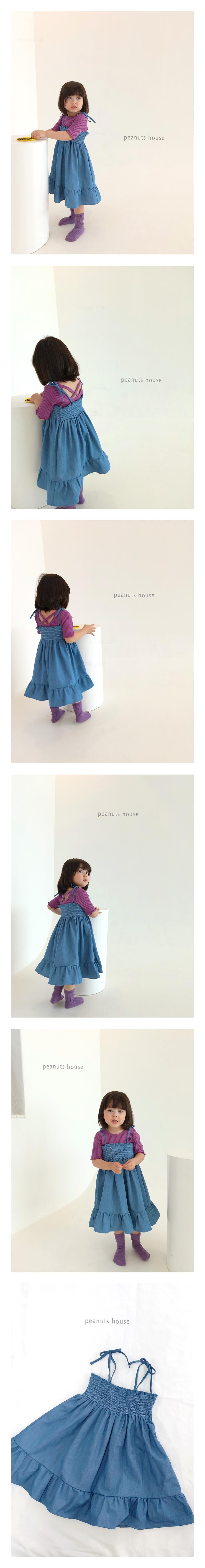PEANUTS - Korean Children Fashion - #Kfashion4kids - Smocked String One-piece