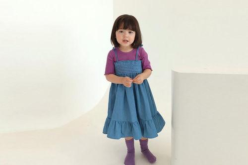 PEANUTS - BRAND - Korean Children Fashion - #Kfashion4kids - Smocked String One-piece