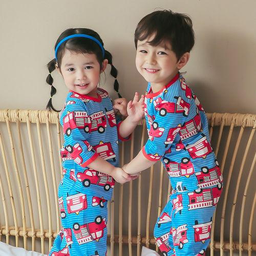 VOVO - BRAND - Korean Children Fashion - #Kfashion4kids - Fire Truck Easywear