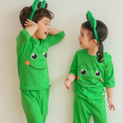 VOVO - BRAND - Korean Children Fashion - #Kfashion4kids - Frog Easywear