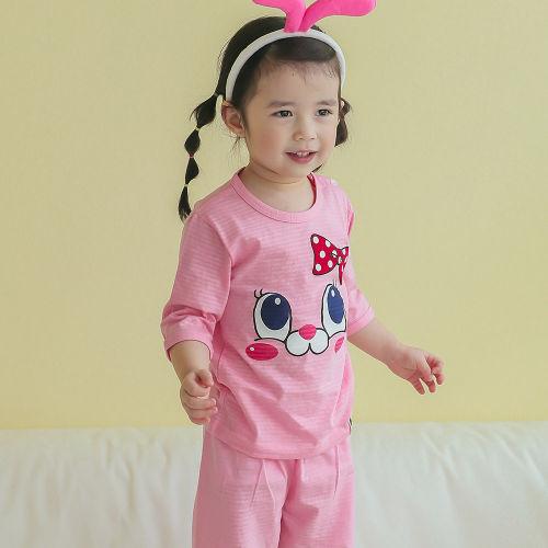 VOVO - BRAND - Korean Children Fashion - #Kfashion4kids - Pink Bunny Easywear