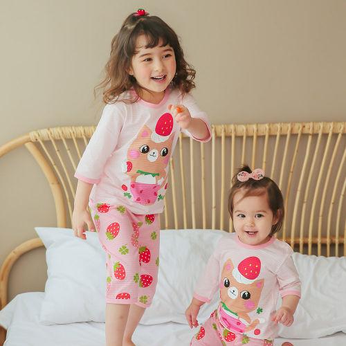 VOVO - BRAND - Korean Children Fashion - #Kfashion4kids - Berry Berry Cat Easywear