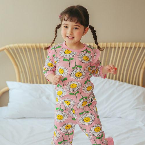 VOVO - BRAND - Korean Children Fashion - #Kfashion4kids - Smile Flower Easywear