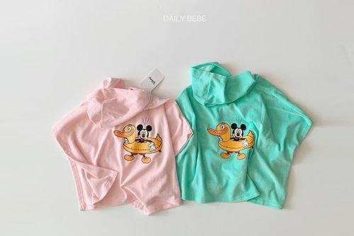 DAILY BEBE - BRAND - Korean Children Fashion - #Kfashion4kids - Mickey Towel Cover