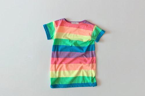 DAILY BEBE - BRAND - Korean Children Fashion - #Kfashion4kids - Rainbow One-piece