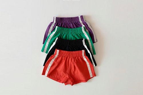 DAILY BEBE - BRAND - Korean Children Fashion - #Kfashion4kids - Line Shorts