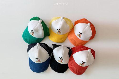 DAILY BEBE - BRAND - Korean Children Fashion - #Kfashion4kids - Mickey Mesh Cap