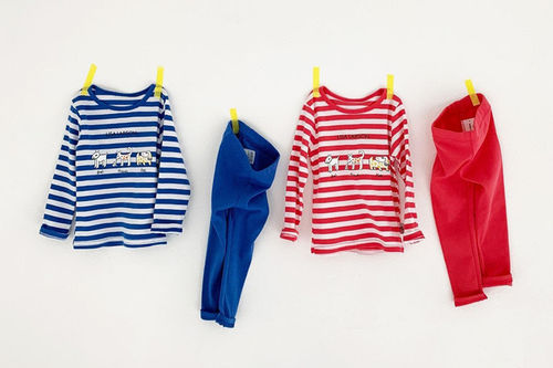 DIGREEN - BRAND - Korean Children Fashion - #Kfashion4kids - Lisa Stripe Easywear
