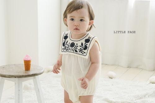 LITTLE PAGE - BRAND - Korean Children Fashion - #Kfashion4kids - Embroidery Sailor Bodysuit