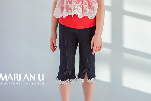 MARI AN U - BRAND - Korean Children Fashion - #Kfashion4kids - Blue Midi Pants