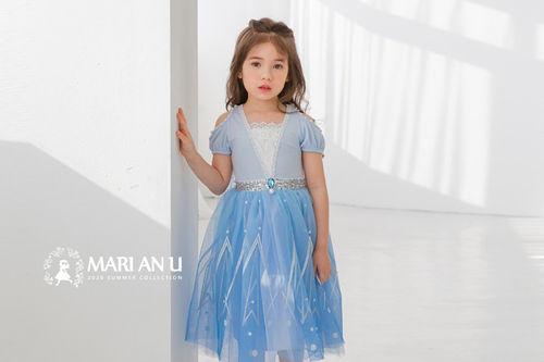 MARI AN U - BRAND - Korean Children Fashion - #Kfashion4kids - Blue One-piece