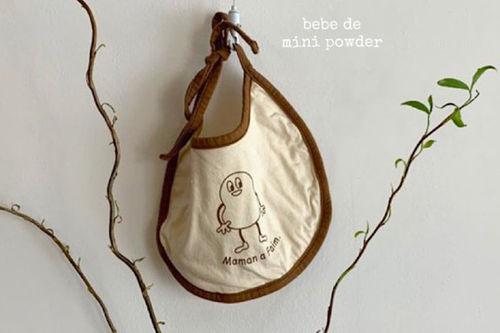 MINI POWDER - BRAND - Korean Children Fashion - #Kfashion4kids - Peanut Bib