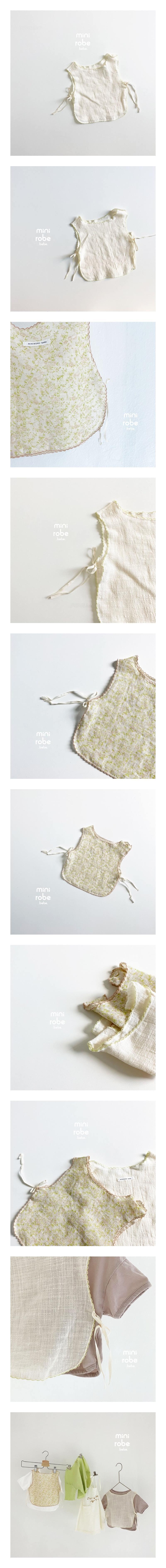 MINI ROBE - Korean Children Fashion - #Kfashion4kids - Flower Bib