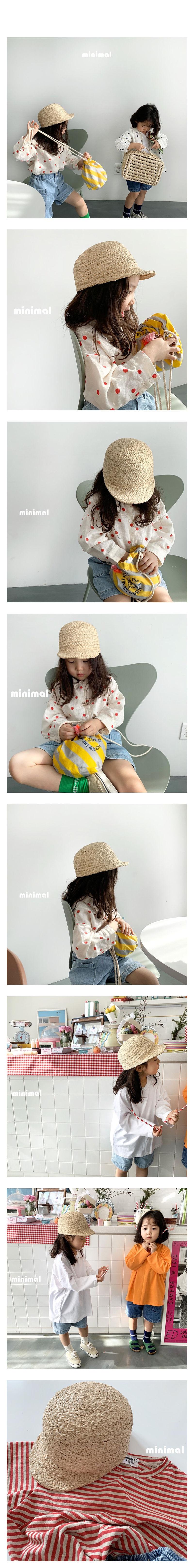 MINIMAL - Korean Children Fashion - #Kfashion4kids - Raffia Casual Cap