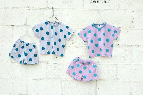 NESTAR - BRAND - Korean Children Fashion - #Kfashion4kids - Dot Top Bottom Set