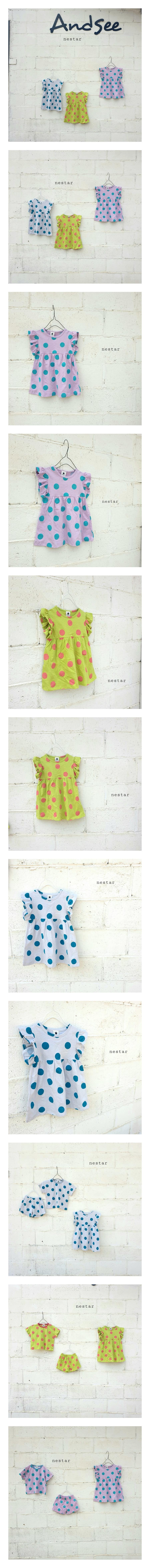 NESTAR - Korean Children Fashion - #Kfashion4kids - Dot One-piece