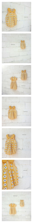 NESTAR - Korean Children Fashion - #Kfashion4kids - Yellow Flower Bodysuit