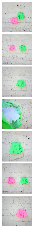 NESTAR - Korean Children Fashion - #Kfashion4kids - Neon Skirt Pants