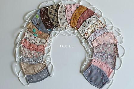 PAUL & J - BRAND - Korean Children Fashion - #Kfashion4kids - Anti Bacterial Thread Mask