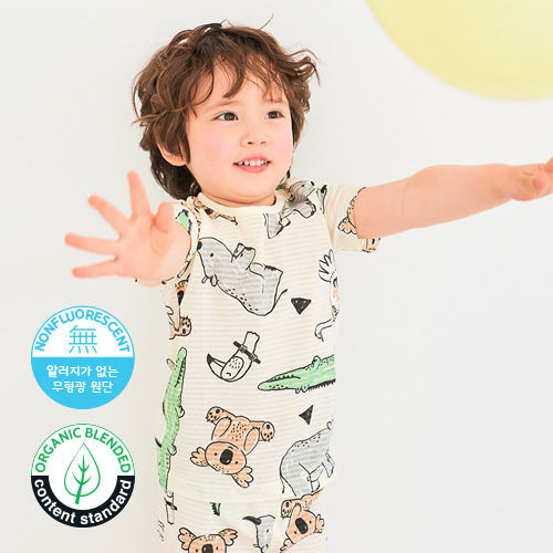 TTASOM - BRAND - Korean Children Fashion - #Kfashion4kids - Summer Animal Easywear