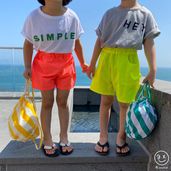 A-MARKET - Korean Children Fashion - #Kfashion4kids - Neon Cargo Pants - 7