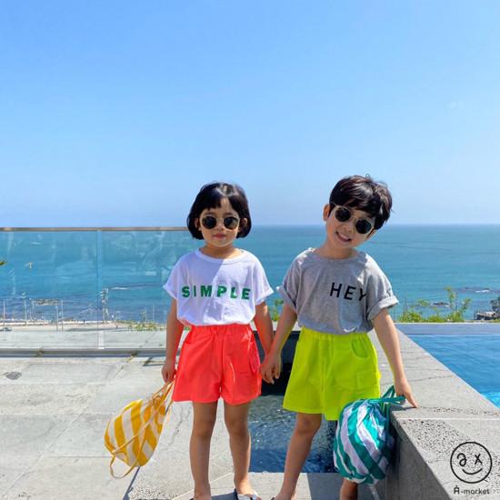 A-MARKET - Korean Children Fashion - #Kfashion4kids - Neon Cargo Pants - 9