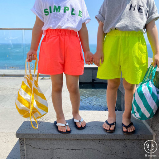 A-MARKET - BRAND - Korean Children Fashion - #Kfashion4kids - Neon Cargo Pants