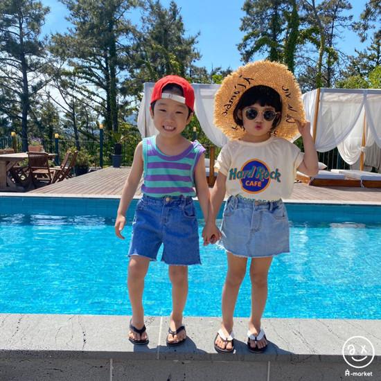 A-MARKET - Korean Children Fashion - #Kfashion4kids - Denim Skirt Pants