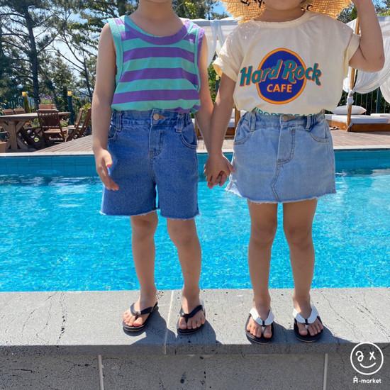 A-MARKET - Korean Children Fashion - #Kfashion4kids - Denim Skirt Pants - 2