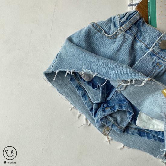 A-MARKET - Korean Children Fashion - #Kfashion4kids - Denim Skirt Pants - 7