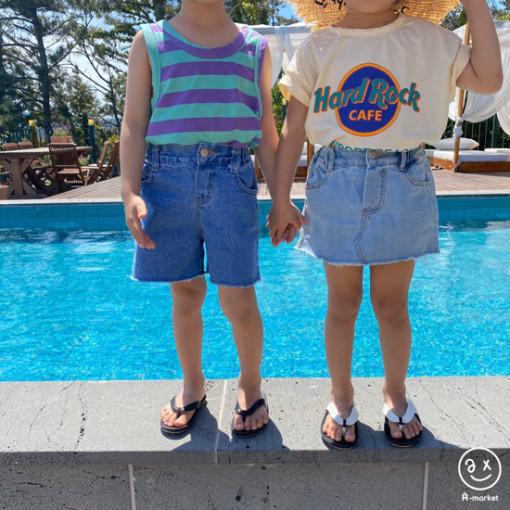 A-MARKET - BRAND - Korean Children Fashion - #Kfashion4kids - Denim Skirt Pants