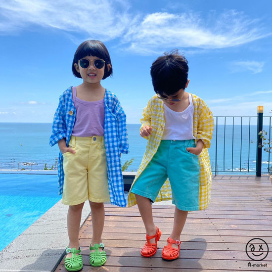 A-MARKET - Korean Children Fashion - #Kfashion4kids - Cream Half Pants - 2
