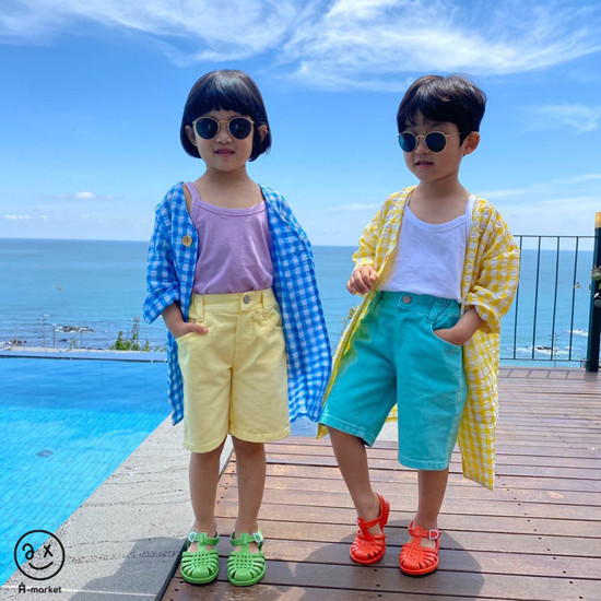 A-MARKET - Korean Children Fashion - #Kfashion4kids - Cream Half Pants - 8