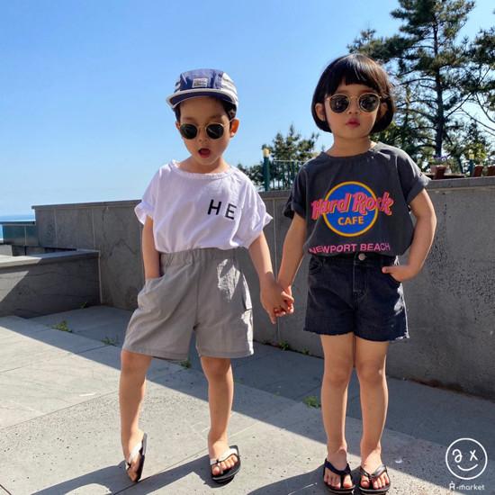 A-MARKET - Korean Children Fashion - #Kfashion4kids - Denim Short Pants - 2