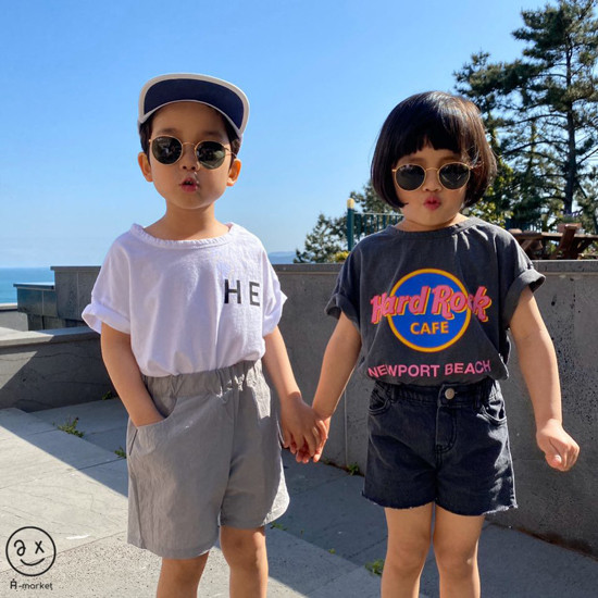 A-MARKET - Korean Children Fashion - #Kfashion4kids - Denim Short Pants - 3
