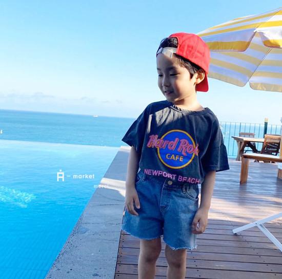 A-MARKET - Korean Children Fashion - #Kfashion4kids - Denim Short Pants - 4