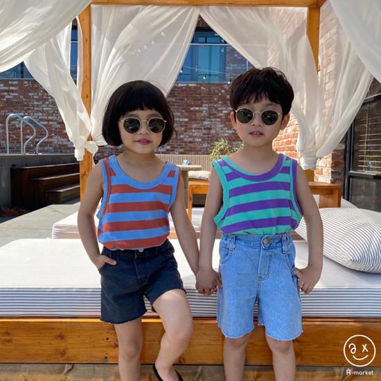 A-MARKET - Korean Children Fashion - #Kfashion4kids - Denim Short Pants - 6