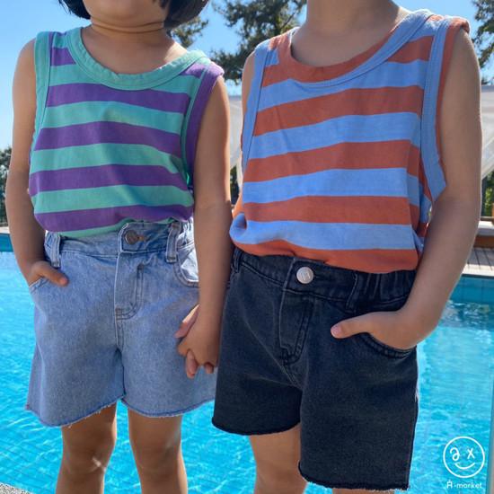 A-MARKET - Korean Children Fashion - #Kfashion4kids - Denim Short Pants - 7