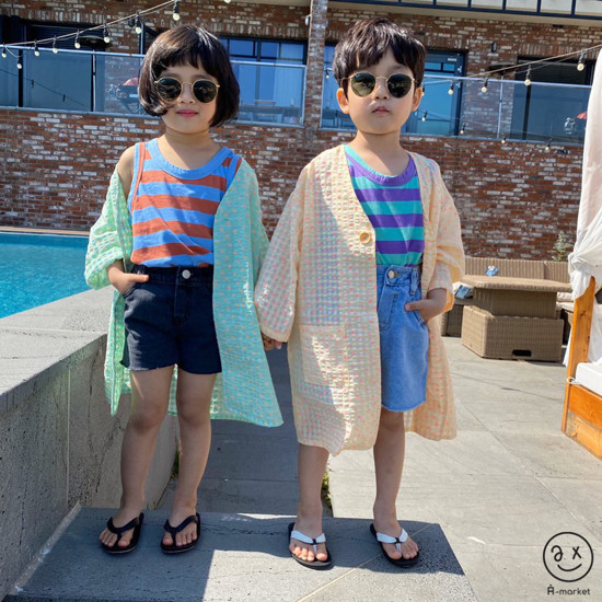 A-MARKET - Korean Children Fashion - #Kfashion4kids - Denim Short Pants - 8