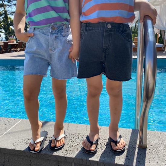 A-MARKET - Korean Children Fashion - #Kfashion4kids - Denim Short Pants - 9