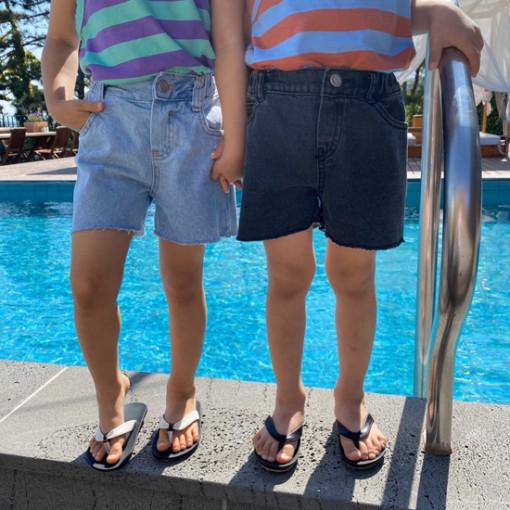 A-MARKET - BRAND - Korean Children Fashion - #Kfashion4kids - Denim Short Pants