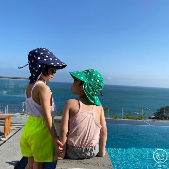 A-MARKET - Korean Children Fashion - #Kfashion4kids - Dot Swim Hat - 4