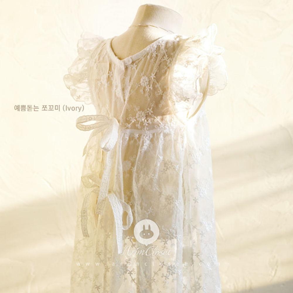 ARIM CLOSET - BRAND - Korean Children Fashion - #Kfashion4kids - Lovely Lace Pure Dress
