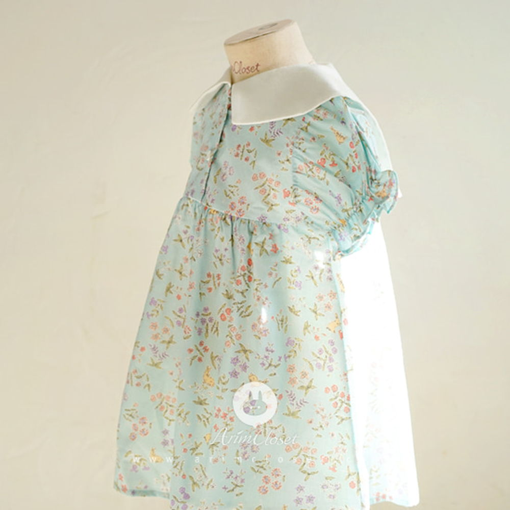 ARIM CLOSET - BRAND - Korean Children Fashion - #Kfashion4kids - Rabbit Flower Sailor Dress