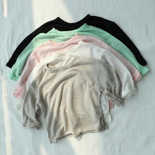 CREAMCOK - BRAND - Korean Children Fashion - #Kfashion4kids - Linen Tee