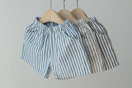 CREAMCOK - BRAND - Korean Children Fashion - #Kfashion4kids - Chic Stripe Shorts