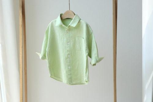 CREAMCOK - BRAND - Korean Children Fashion - #Kfashion4kids - Everyday Linen Shirt