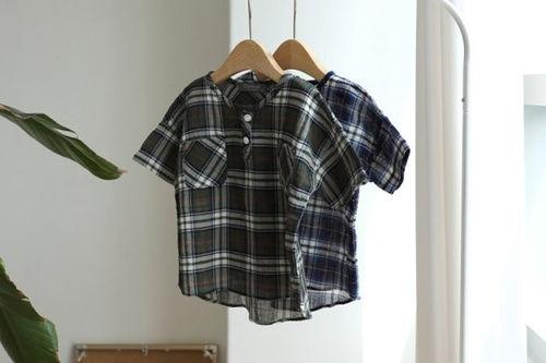 CREAMCOK - BRAND - Korean Children Fashion - #Kfashion4kids - Check Henlry Shirt
